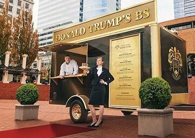 """特朗普牌的""""废话三明治""""被广告公司当街叫卖"""